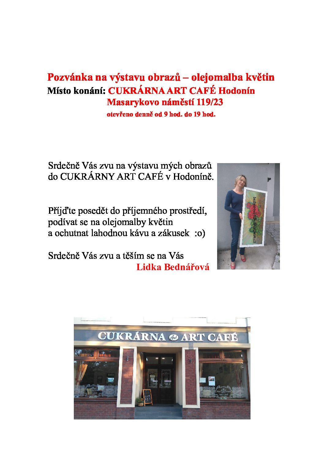 Výstava obrazů – olejomalby květin Lidka Bednářová
