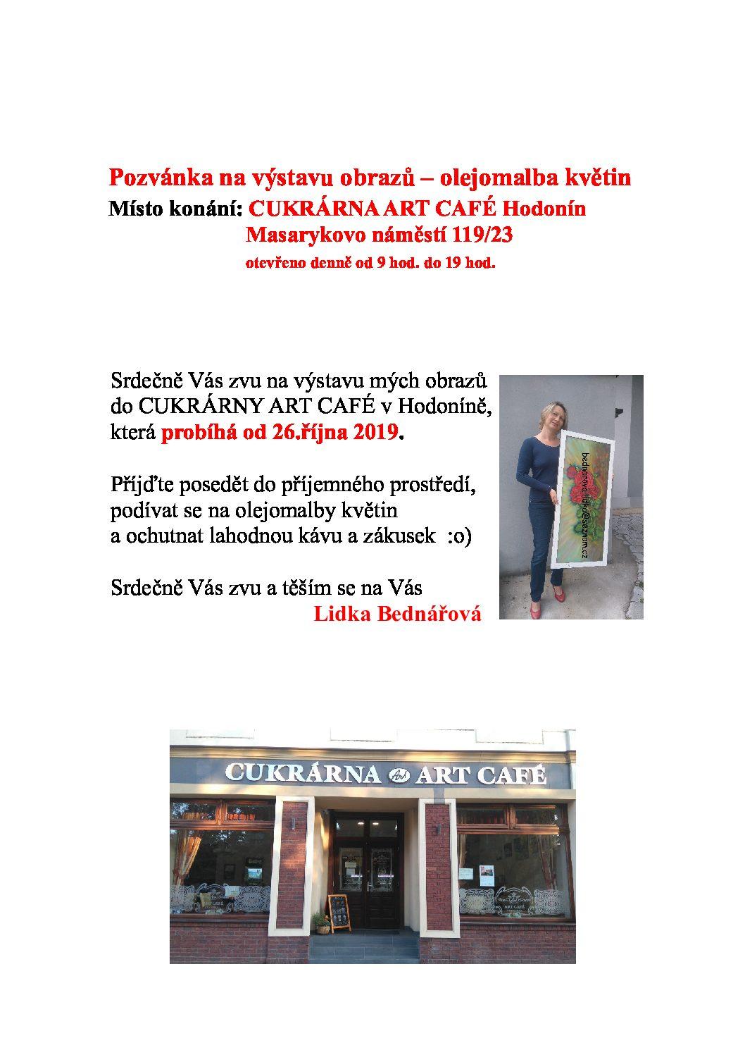 Výstava – olejomalby květin Lidka Bednářová