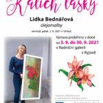 Kalich lásky - výstava obrazů Lidka Bednářová