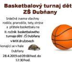 Basketbalový turnaj dětí ZŠ Dubňany